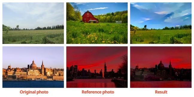 Voorbeeld fotostijlen kopiëren en plakken